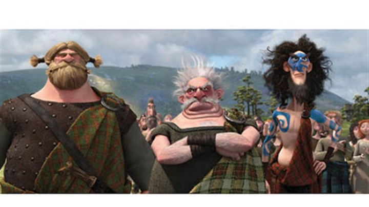 "'Brave' Lord MacGuffin, Lord Dingwall and Lord Macintosh are leaders of respective clans in ""Brave."""