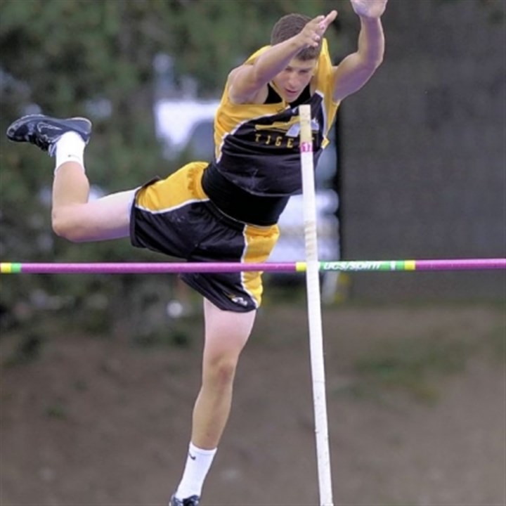 Brett Neugebauer North Allegheny's Brett Neugebauer figures to be involved in a battle for WPIAL pole vault title.