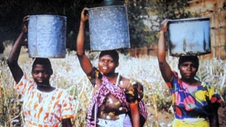 Briggs Aubrey Briggs' inspiration for his design, construction and financing a water system for a village in Malawi were the women such as these villagers there who spent their days carrying water on their heads.