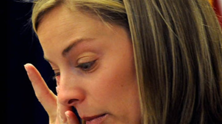 "Brooke Hicks Brooke Hicks pauses as she talks about her husband, FBI Special Agent Samuel Hicks, this morning in the Federal Courthouse. She said of the negotiated sentence of Christina Korbe: ""The most important thing was she stood up in that courtroom and accepted responsibility for shooting Sam."""