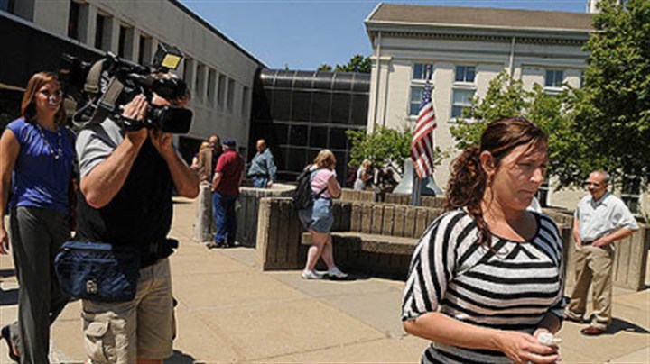 brown sentencing kramer Jennifer Kraner, sister of Kenzie Houk, walks away from the Lawrence County Courthouse in New Castle. She testified in the sentencing of Jordan Brown in front of Judge John Hodge.