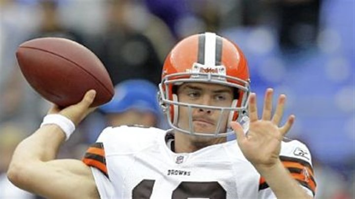 Browns rookie quarterback Colt McCoy Browns rookie quarterback Colt McCoy is making his NFL debut today against the Steelers, a challenge for any quarterback, never mind one with no regular-season experience.