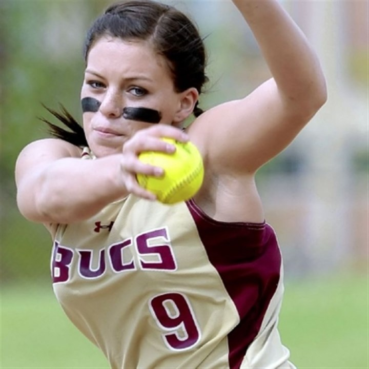 Buccaneers Chartiers-Houston pitcher Kayla Briggs, who compiled a 25-2 won-lost record with 213 strikeouts last year, returns to lead the Buccaneers in Class AA this season.