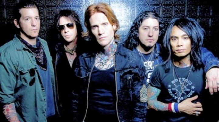 Buckcherry Buckcherry will play Stage AE Saturday. They are: Keith Nelson, left, who grew up in North Sewickley, Jimmy Ashhurst, Josh Todd, Xavier Muriel and Stevie D.