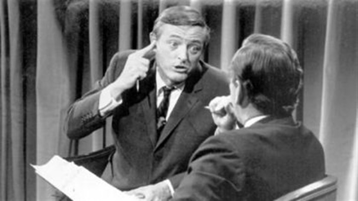 Buckley in 1968 William Buckley Jr. with Gore Vidal on election night, 1968.