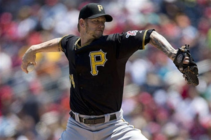 burnett nationals first Pirates pitcher A.J. Burnett fell behind early, giving up 4 runs in the first inning.