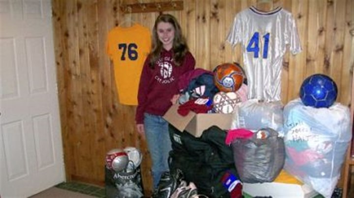 Caitlan Carney Quigley Catholic High School senior Caitlan Carney is donating soccer equipment to GOALS Haiti.