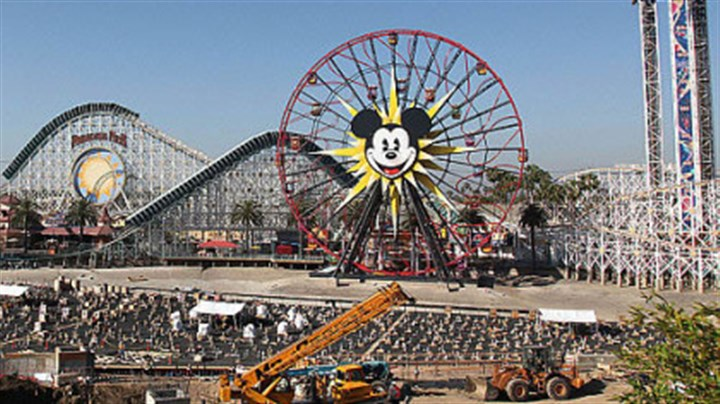 California Adventure The face of Mickey Mouse was added to the ferris wheel at Disney California Adventure, part of the ongoing updates and renovations.
