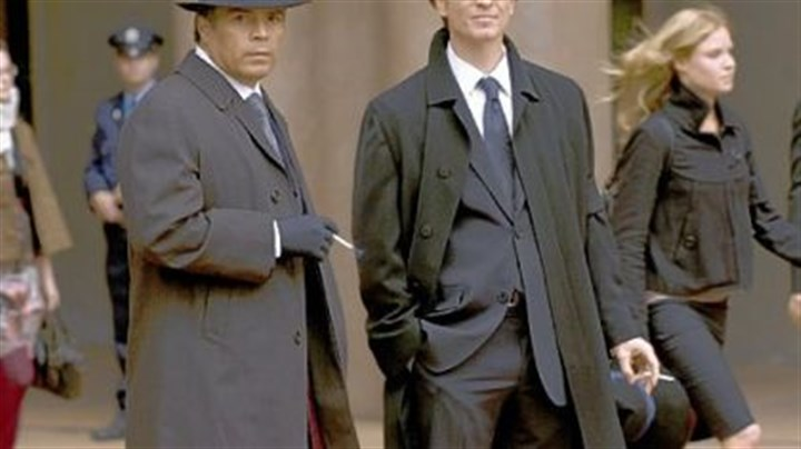 """Caprica"" Esai Morales, left, is Joseph Adams and Eric Stoltz is Daniel Graystone in the Sci Fi Channel's ""Caprica."""