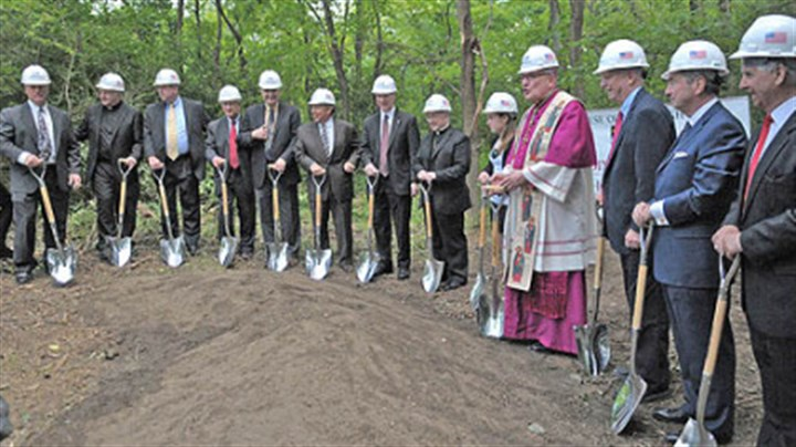 Cardinal Wuerl North Catholic High School Bishop David A. Zubik leads school personnel and contractors today as they prepare to break ground for the new Cardinal Wuerl North Catholic High School in Cranberry Township.