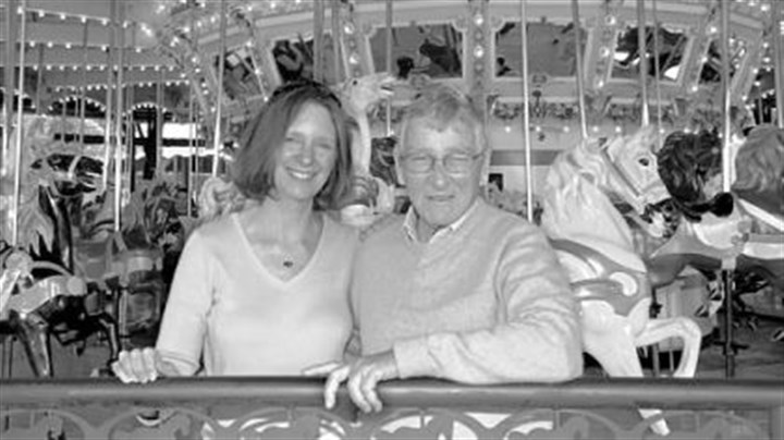 Carl Hughes Carl Hughes with his daughter Mary Lou Rosemeyer at Kennywood's Merry-Go-Round in 2006.