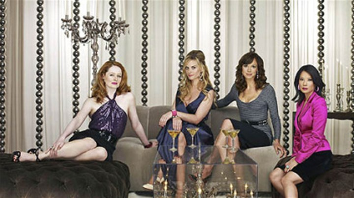 """Cashmere Mafia"" ""Cashmere Mafia"" stars, from left, Miranda Otto, Bonnie Somerville, Frances O'Connor and Lucy Liu. The show will debut at 10 p.m. Sunday on ABC, then air regularly on Wednesdays."
