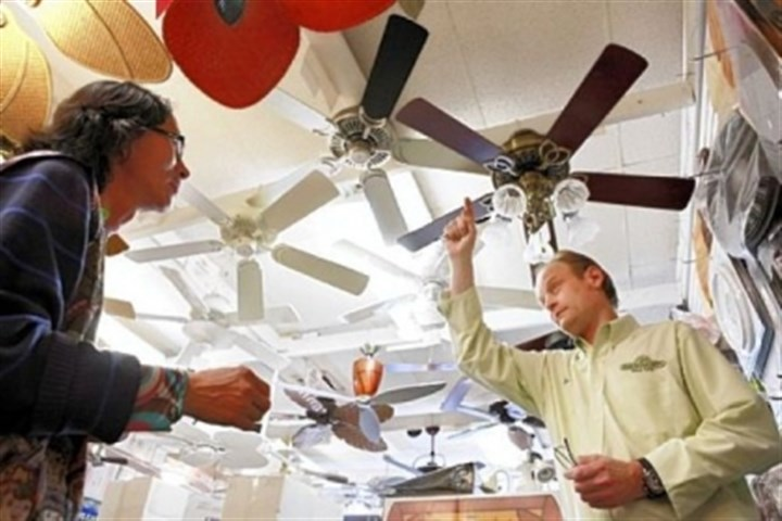 Ceiling fans Ceiling fans can help reduce heating and air conditioning costs.
