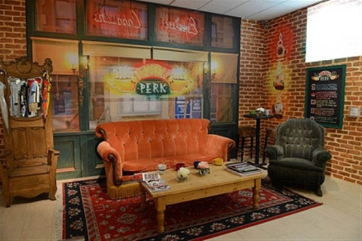 "Central Perk A re-creation of the Central Perk set of ""Friends."""