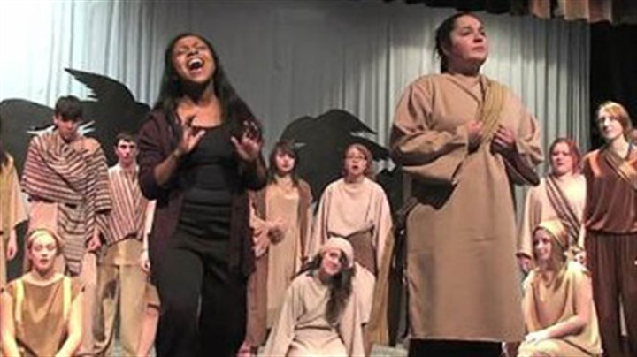 "Central Valley's Aida Among the Mancini Award nominatins for Central Valley High School's ""Aida"" was Outstanding Vocal Ensemble."