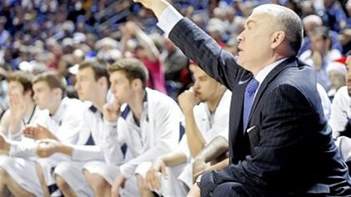 Chambers.jpg Penn State coach Pat Chambers directs his players in Sunday's win against New Hampshire at Bryce Jordan Center.