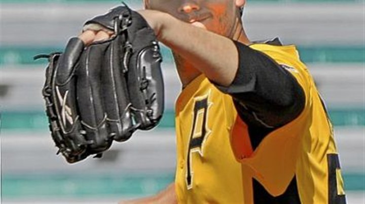 Charlie Morton Charlie Morton works on his pickoff move to first before a Pirates game March 2 in Bradenton, Fla.