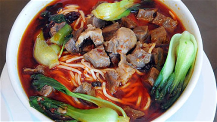 China Star/Dine Spicy homestyle beef noodle soup.