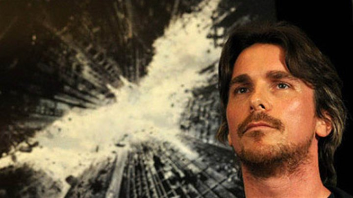 "Christian Bale Actor Christian Bale at a press conference about the film ""The Dark Knight Rises"" at the Renaissance Hotel in Pittsburgh in 2011."