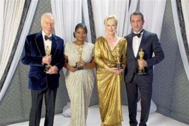 Christopher Plummer, Octavia Spencer, Meryl Streep and Jean Dujardin Last year's Academy Award winners Christopher Plummer, Octavia Spencer, Meryl Streep and Jean Dujardin will return as presenters on this year's telecast on Feb. 24.
