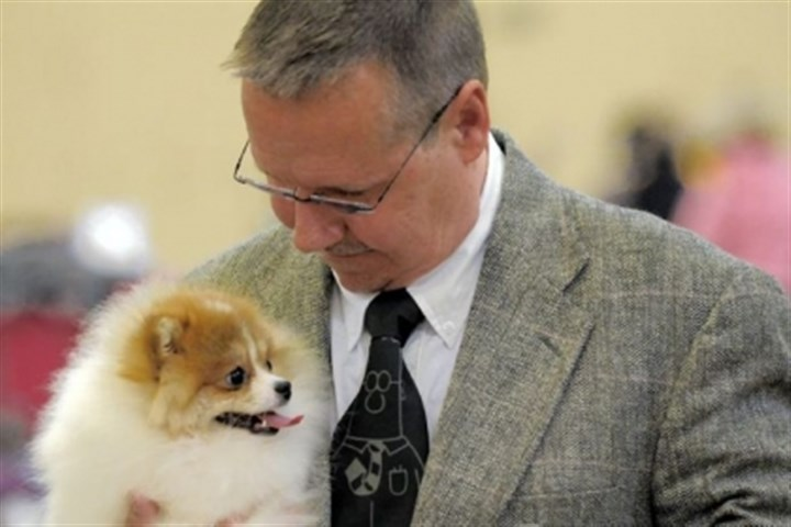 Chuck Kappus of Barberton, Ohio Chuck Kappus of Barberton, Ohio, brought his Pomeranian, Stinkbert, to the Western Pennsylvania Kennel Association Annual Dog Show at Monroeville Convention Center Saturday.