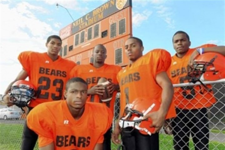 clairton bears file Former Clairton Bears Titus Howard (front), from left, Tyler Boyd, Armani Ford, Tyus Booker and Terrish Webb.