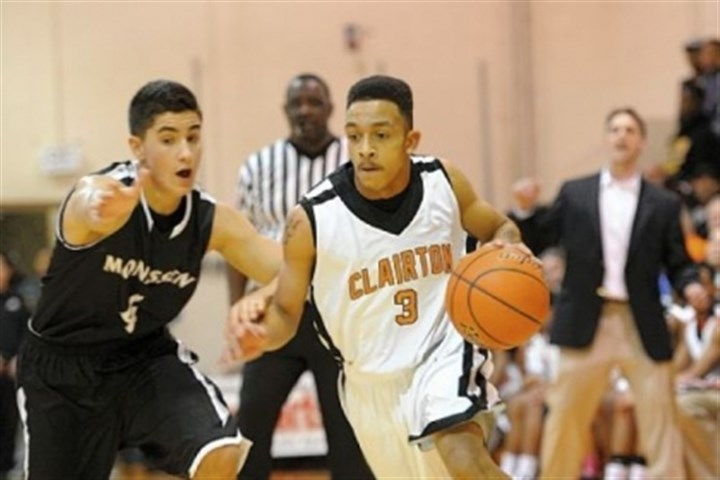 Clairton's Byron Clifford Clairton's Byron Clifford drives against Monessen's Luke Doptis Friday at Clairton.