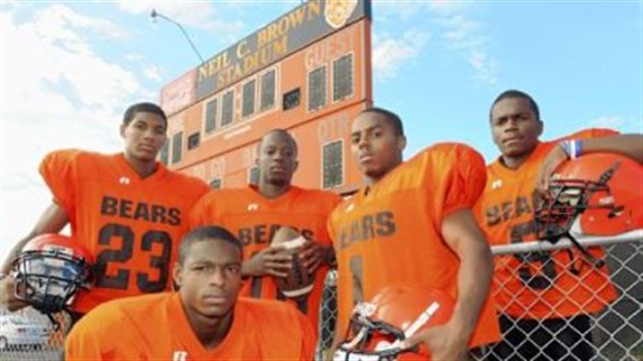 ClairtonBoydHowardWebb Titus Howard (front), Tyler Boyd (far left) and Terrish Webb (far right) have all made verbal commitments to Pitt for the 2013 class. Webb had made a verbal committment to Kent State early this past season.