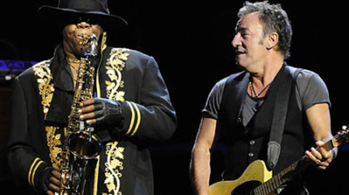 "Clarence Clemons and Bruce Springsteen Clarence Clemons and Bruce Springsteen perform during the ""Working on a Dream"" tour at Mellon Arena tonight."