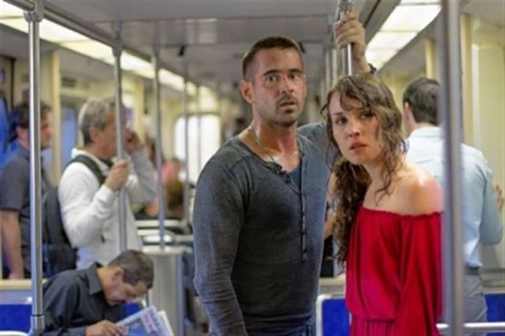 "Colin Farrell and Noomi Rapace Colin Farrell and Noomi Rapace star in ""Dead Man Down."""