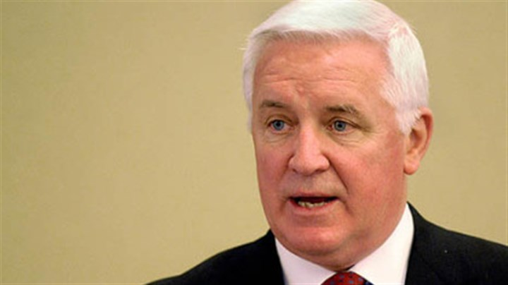 Corbett The state should reduce the heavy borrowing that has been spent on thousands of projects statewide, including more than 300 in Allegheny County alone, says Gov. Tom Corbett, seen in an April photo.