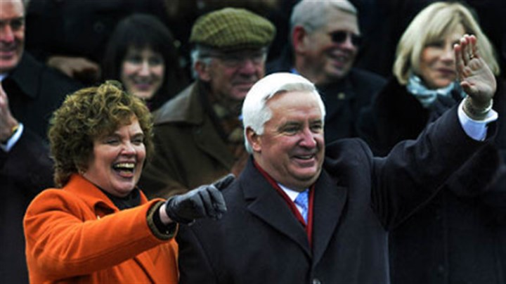 Corbetts at inauguration Gov. Tom Corbett and his wife, Susan.
