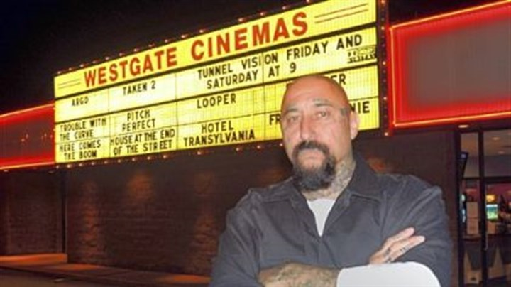 "Cristos Cristos premiered his new movie, ""Tunnel Vision,"" in his hometown of New Castle earlier this month."