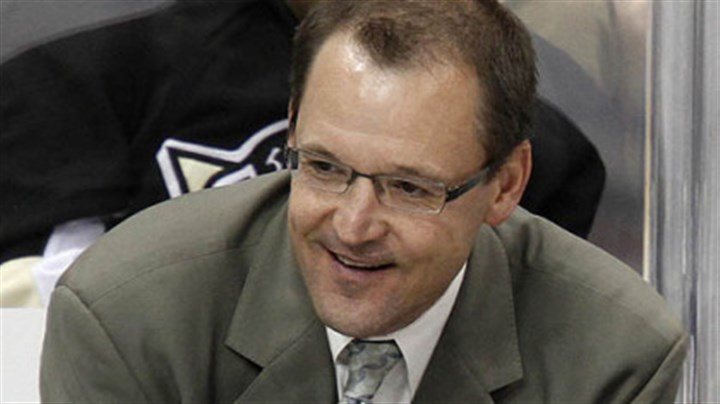 Dan Bylsma Penguins coach Dan Bylsma watches the first period.