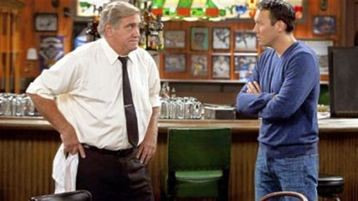 "Dan Lauria, left, and Steve Byrne Dan Lauria, left, and Steve Byrne play father and son in TBS's new comedy series ""Sullivan & Son."" Mr. Byrne, a 1992 graduate of Hampton High School, plays a New York corporate lawyer who returns to Pittsburgh to buy his parents' bar."