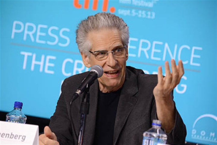 "David Cronenberg Director David Cronenberg participates in a news conference for ""The Cronenberg Project"" Sept. 5 at the Toronto International Film Festival."