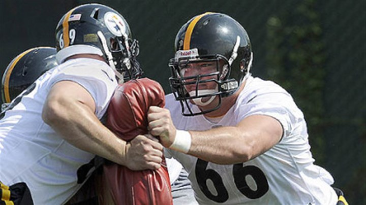 decastro Steelers first-round draft pick David DeCastro works out during rookie mini-camp on the South Side Friday morning.