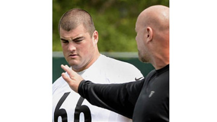 Decastro David DeCastro gets instruction from Steelers offensive line coach Sean Kugler.