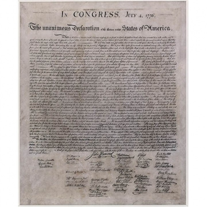 Declaration of Independence Declaration of Independence, engraving by William Stone, 1823