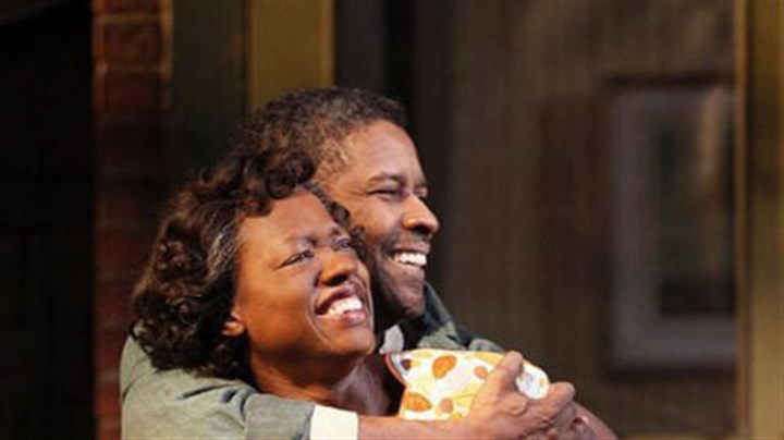 "Denzel Washington and Viola Davis Denzel Washington as Troy Maxson and Viola Davis as Rose in August Wilson's ""Fences"" on Broadway."