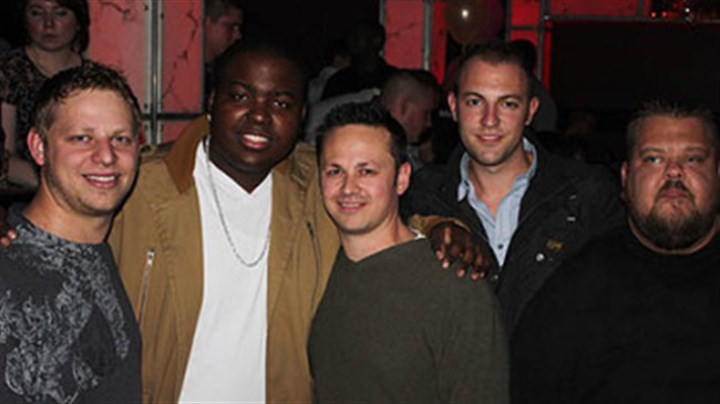 diesel afterparty Mike DeSimone, Sean Kingston, Adam DeSimone, Drew Meyer, and Big Steve at an after-party at Diesel