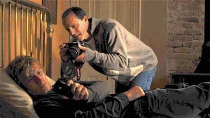 Director D.J. Caruso with Alex Pettyfer Director D.J. Caruso with Alex Pettyfer on the set.