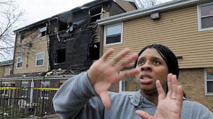 "Dominique Akrie Dominique Akrie, a next-door neighbor, said the ""flames were just too much ..."" when her husband tried to enter the burning structure. The fire started near midnight along Nolan Court in the Homewood section of Pittsburgh. A mother and her three children died."