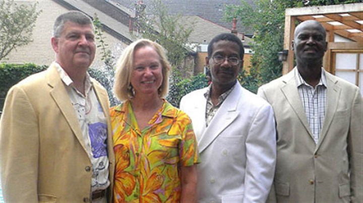 Donald Kortlandt, Anna Singer, Russell Bynum, and Leon D. Pamphile Donald Kortlandt, Anna Singer, Russell Bynum, and Leon D. Pamphile.
