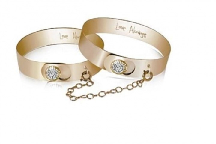 Double bracelet Yellow gold and diamond Love Always double-chain bracelet, $8,100.