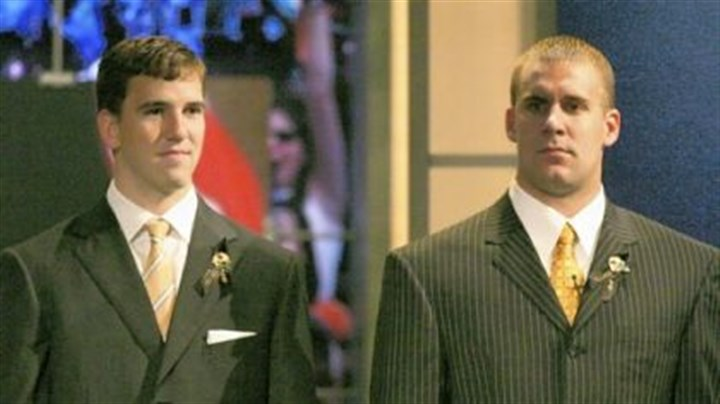draft day The day that changed a decade: Eli Manning, left, and Ben Roethlisberger on Draft Day 2004 in New York. Manning went first, Roethlisberger 11th and between them they went on to win four Super Bowls and play in five.
