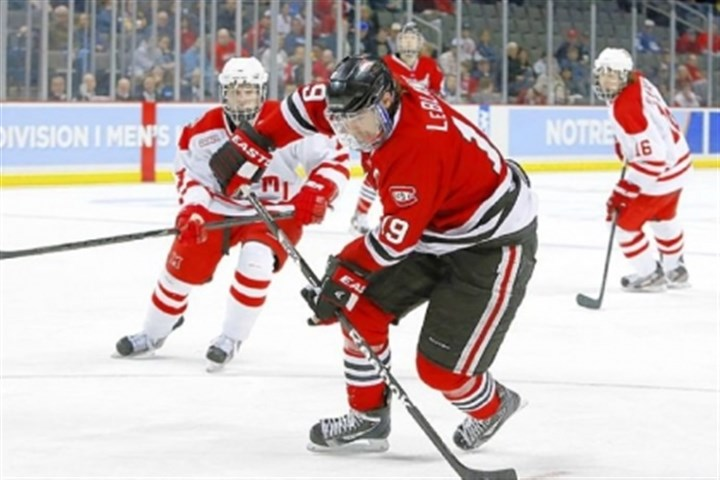 Drew LeBlanc St. Cloud State's Drew LeBlanc led Division I in assists with 37.