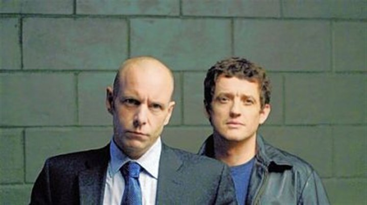 """Durham County's"" Hugh Dillon and Justin Louis Mike Sweeney, played by Hugh Dillon, left, and Ray Prager, played by Justin Louis, are rivals in Ion's ""Durham County."""
