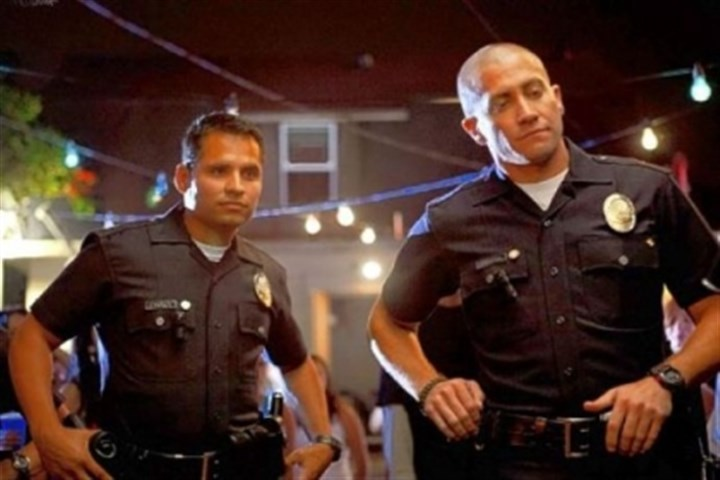 "DVD review: 'End of Watch' Michael Pena and Jake Gyllenhaal are partners walking the beat in ""End of Watch."""