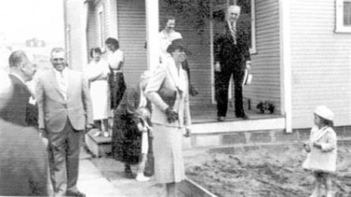 Eleanor Roosevelt First lady Eleanor Roosevelt visits a nursery school in Norvelt in 1936.